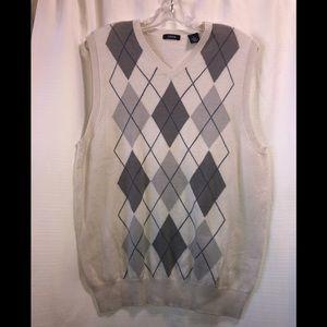 Izod V-Neck Argyle Sweater Vest Size M #2219